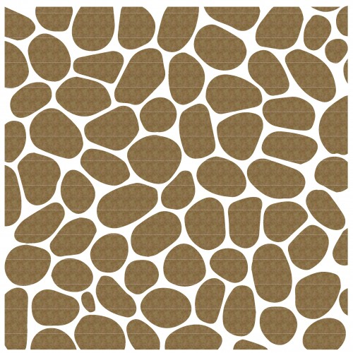 "Cobblestone (both panel and stones) - 6"" x 6"" Lattice Panels"