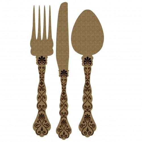Antique Cutlery - Chipboard