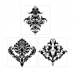 Damask Trio Stamps