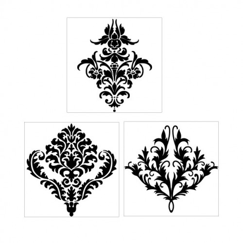Damask Trio Stamps - Backgrounds