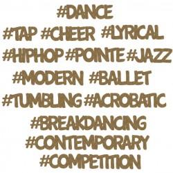 Dance Hashtag Words