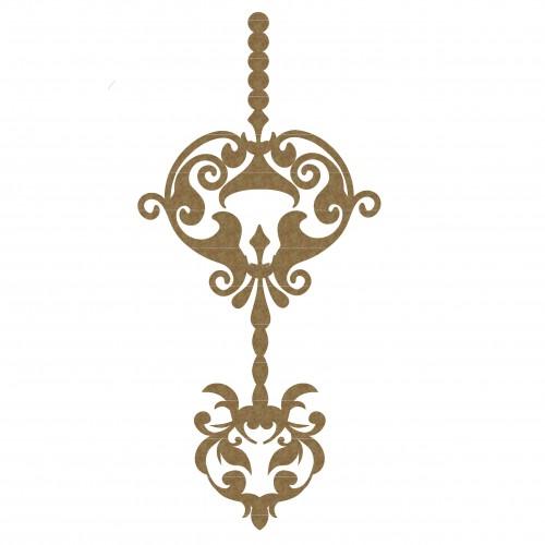 Ornate Dangle - Chipboard