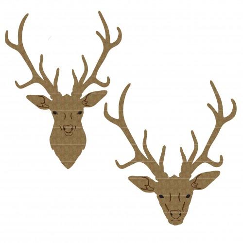 Deer Heads - Christmas