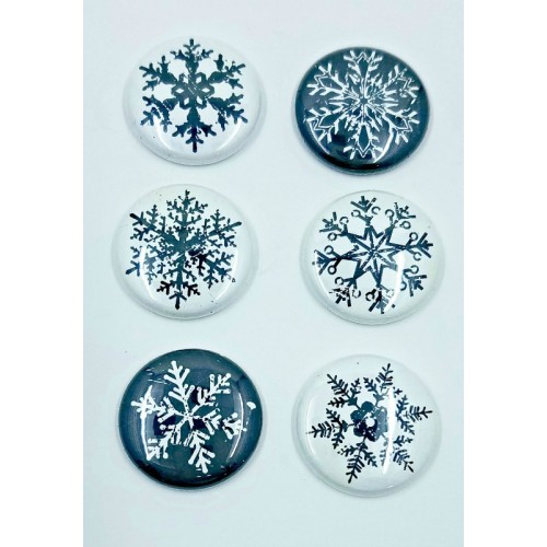 Distressed Snowflakes - Flair