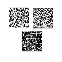 Distressed Animal Print Stamps