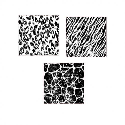 Distressed Animal Print Stamps - Backgrounds