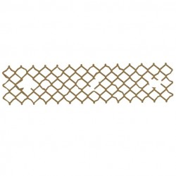 Distressed Chicken Wire Border