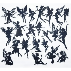 Mega Pack Fairies in Black Chipboard