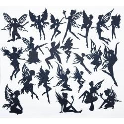 Mega Pack Fairies in Black Chipboard