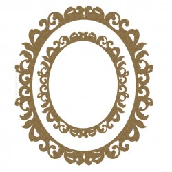 Fancy Oval Frame Set