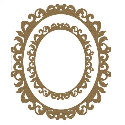 Fancy Oval Frame Set - Frames