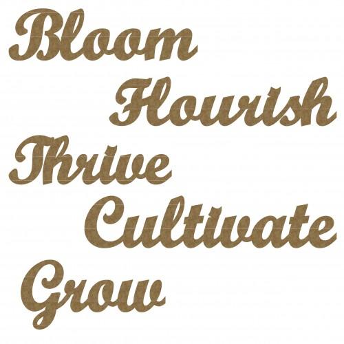 Flourish Word Set - Words