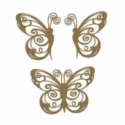 Flourish Butterflies set 4