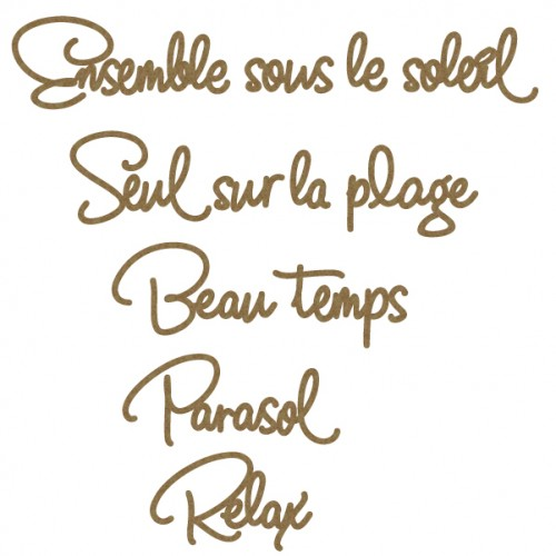 French Beach Word Set 2 - Words