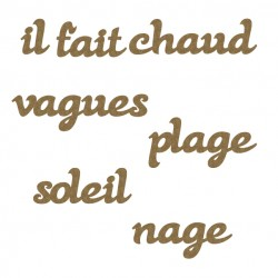French Beach Word Set