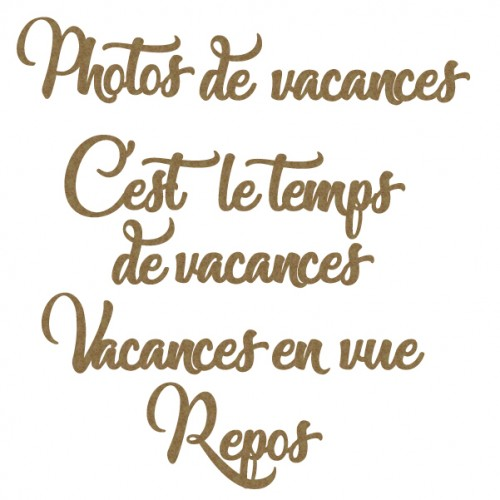 French Vacation Words Set - Words