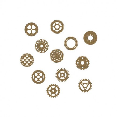 Gears 1  (Set of 12) - Steampunk