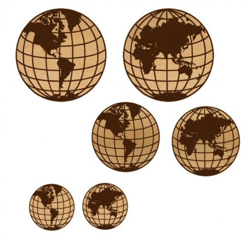 Globes - Wood Veneers