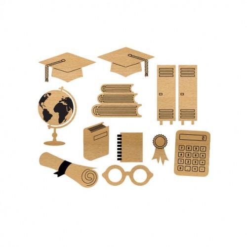 Graduation Set - Wood Veneers