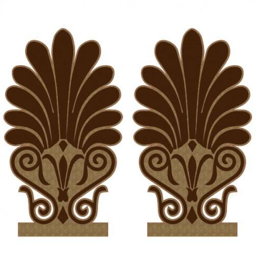 Greek Gable End Ornaments - Chipboard