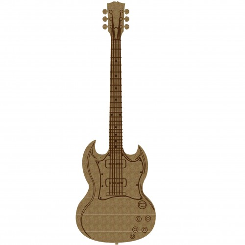 Guitar Style 3 - Chipboard