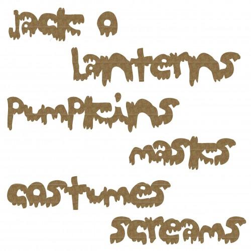 Halloween Night Word Set - Words
