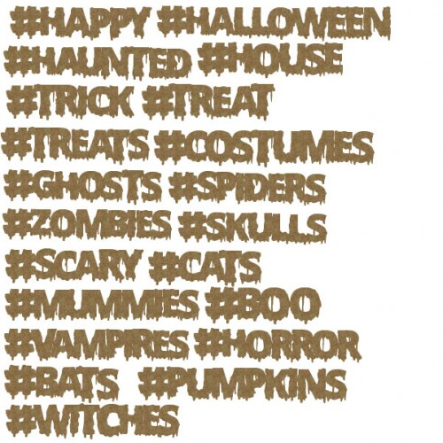 Halloween Hashtags - Words