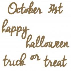 Happy Halloween Word Set