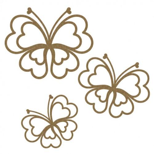 Heart Butterflies Set 1 - Wings