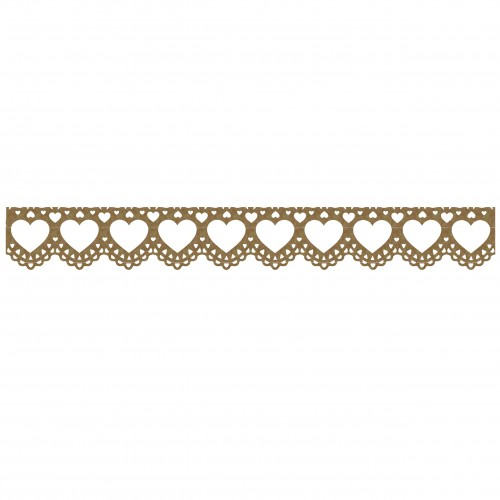 Heart Lace Border - Borders