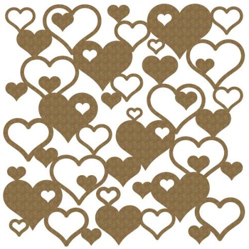 "Hearts Panel 2 - 6"" x 6"" Lattice Panels"