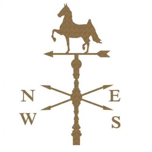 Horse Weathervane - Chipboard