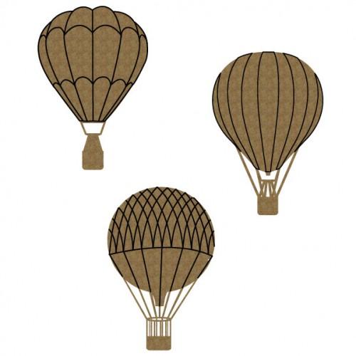 Hot Air Balloons - Chipboard