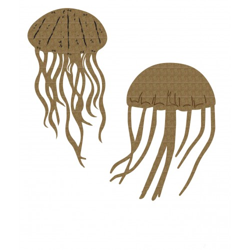 Jellyfish Set 2 - Chipboard