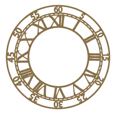 Large Clock Face 5 - Chipboard