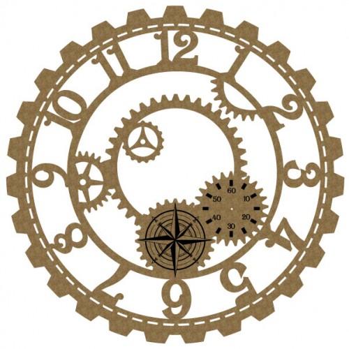 Large Steampunk Clock 6 - Steampunk