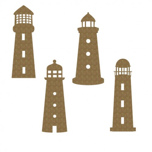 Lighthouse Set of 4 - Nautical