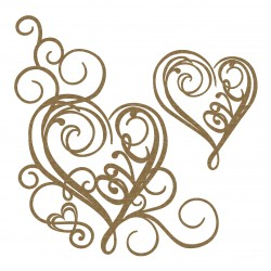 Love Heart Flourish Corner Set