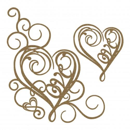 Love Heart Flourish Corner Set - Flourishes