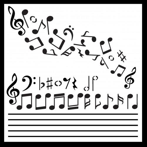 Make Your Own Music Stencil - Stencils