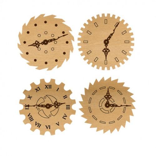 Mini Gear Wood clocks - Wood Veneers