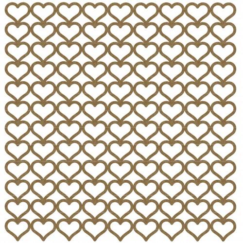 "Mini Heart Panel - 6"" x 6"" Lattice Panels"