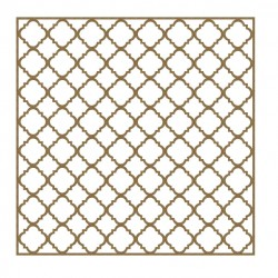 Mini Quatrefoil Panel