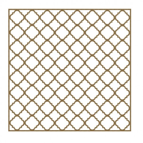 "Mini Quatrefoil Panel - 6"" x 6"" Lattice Panels"