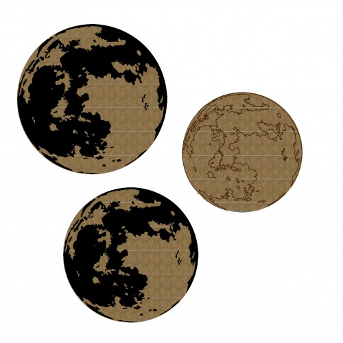 Moon - Chipboard
