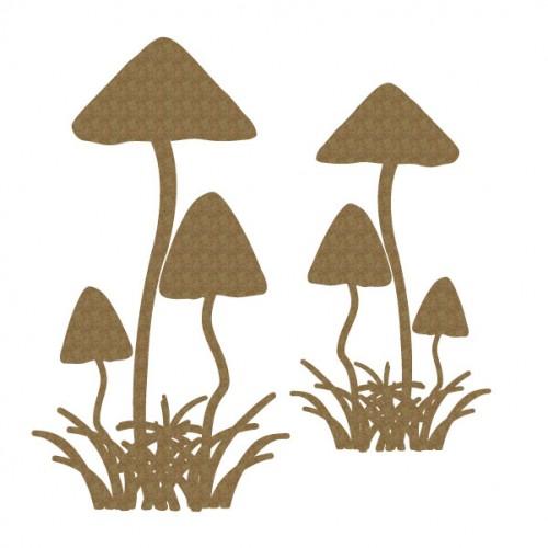 Mushroom Set 1 - Chipboard