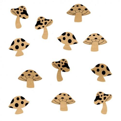 Mushrooms - Wood Veneers