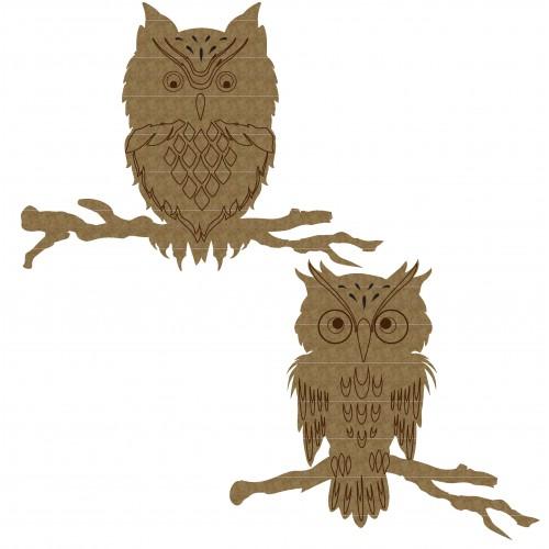 Owls - Chipboard