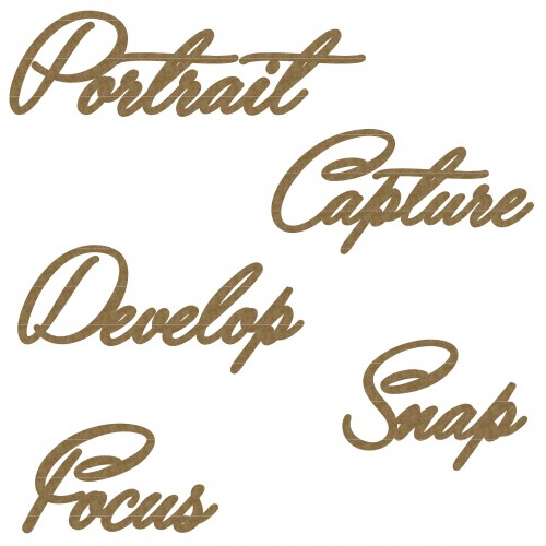 Photography Word Set - Words
