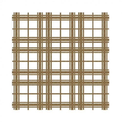 "Plaid Panel 1 - 6"" x 6"" Lattice Panels"